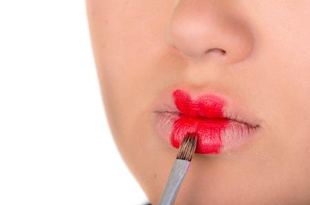 lipgloss: Makeup. Professional make-up. lipgloss. lipstick