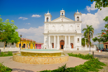 Suchitoto town in El Salvador photo