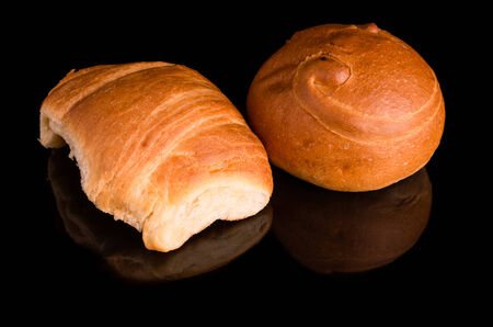 bread on dark background photo