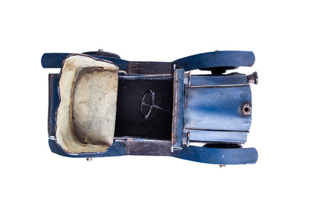 Collection scale model of the retro blue convertible. photo