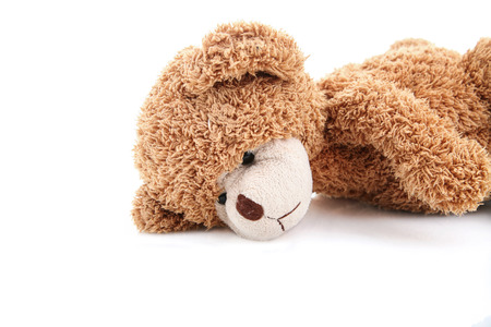sick teddy bear: sad teddy bear Stock Photo