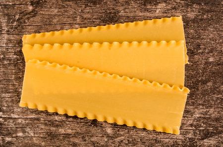 lasagna: raw pasta used for baking lasagna