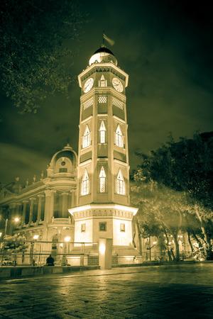 guayaquil: Torre del reloj Guayaquil, Ecuador Malecon 2000 Stock Photo