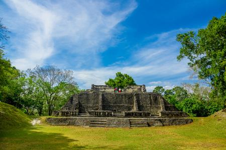 xunantunich maya historical archaelogical site ruins in belize caribbean photo