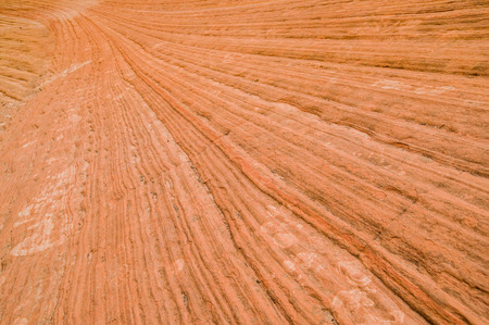 strata lines from mountains in zion national park utah photo