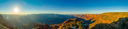 toroweap: beautiful colorful landscape grand canyon national park arizona panorama sun rays