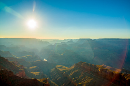 beautiful colorful landscape grand canyon national park arizona sun rays