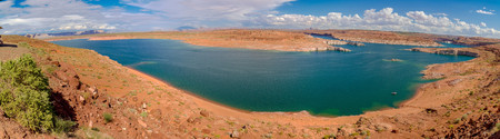 lake powell: lake powell in bryce canyon national park panorama
