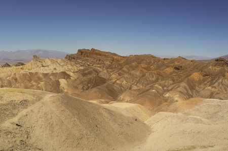 eroded ridges in death valley national park california photo
