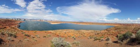 lake powell: panorama Lake powell bryce canyon national park Stock Photo