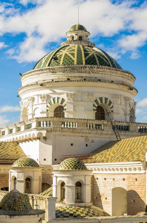la compania: La compania church domes in Quito, Ecuador