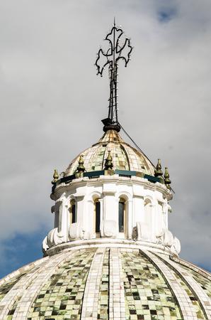 la compania: beautiful dome of La Compania church in Quito Ecuador South America