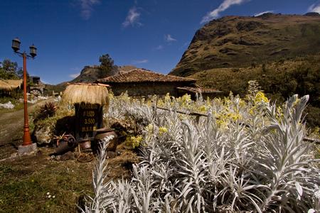alpine tundra: AZUAY, ECUADOR - AUGUST 23, 2010: Touristic landmark Dos Chorreras in Azuay Ecuador