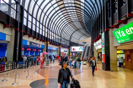 medellin: MEDELLIN, COLOMBIA - FEBRUARY 2, 2015: Travelers at the Jose Maria Cordova International Airport of Medellin, the second most important one in Colombia Editorial