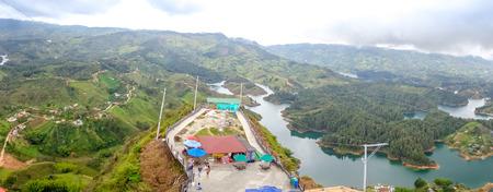 antioquia: Beautiful breathtaking aerial view of Guatape in Antioquia, Colombia