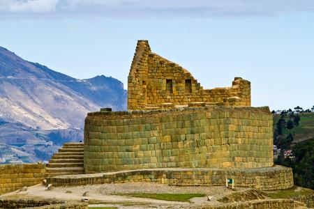 quechua: Ingapirca the most important inca archaelogical ruins in Ecuador Stock Photo