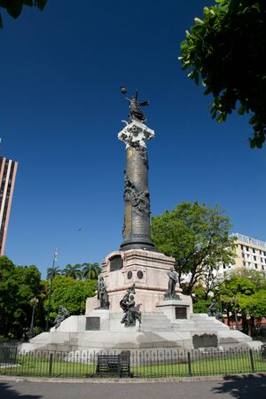 guayaquil: Important independence monument column in Guayaquil, Ecuador Stock Photo