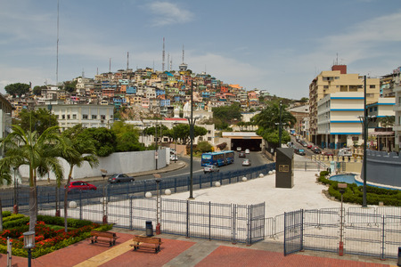 guayaquil: GUAYAQUIL, ECUADOR- NOVEMBER 29, 2012: View of Cerro Santa Ana, city landmark in Guayaquil, Ecuador