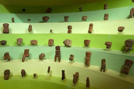 quechua indian: Ceramic figurines in archaelogical museum in Santa Elena, Ecuador