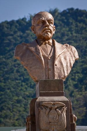 liberal: MANABI, ECUADOR - JUNE 2, 2012: Bronze sculpture of Eloy Alfaro, historic liberal president of Ecuador. Main plaza, Montecristi