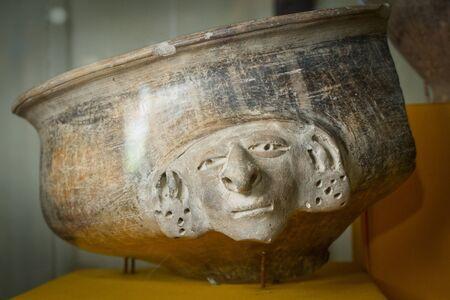 artifact: MANABI, ECUADOR - JUNE 4, 2012: Artifact in Agua Blanca Comune Museum in Machalilla National Park.