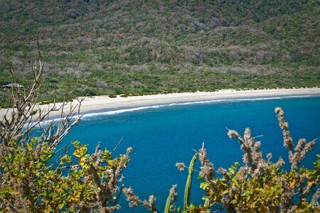 ruta: Breathtaking view of the most beautiful beach in Ecuador, Los Frailes, Machalilla National Park.