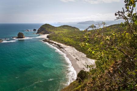 ruta: Beautiful landscape scenery of Los Frailes beach in Machalilla National Park preserve, Manabi, Ecuador