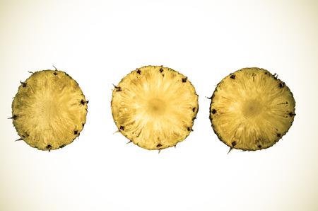 decomposed: rotten pineapple on a white background