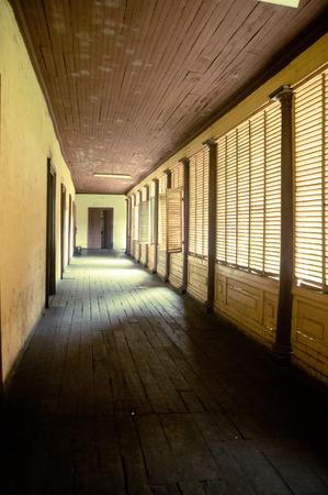creepy: creepy hallway Stock Photo