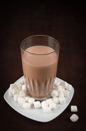 guilty pleasure: chocolate drink made from raw ingredients