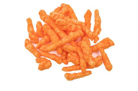 orange cheese flavoured snacks