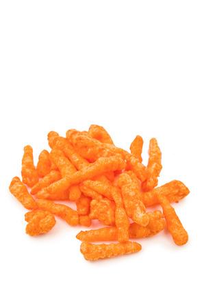 flavoured: orange cheese flavoured snacks
