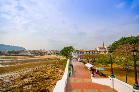 panama city beach: Plaza Francia in historic old town in Panama city. Stock Photo