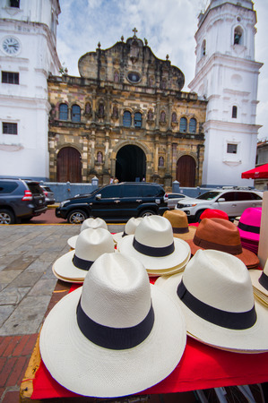 bikini construction: Panama hats in Pamana city.