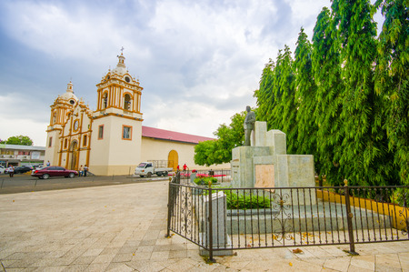 waterway: City Centre church in Santiago, Panama , one of the largest towns in Panama and a major transportation hub for the region.