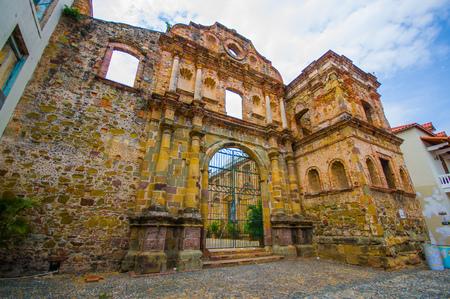 la compania: La Compania church in casco viejo district, in Panama .