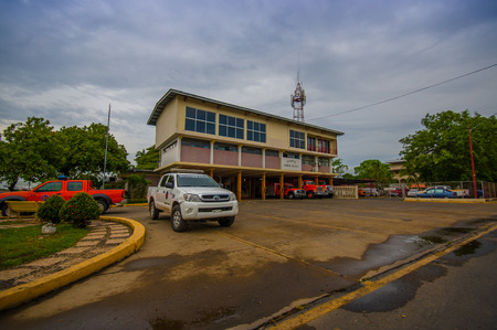 colon panama: COLON, PANAMA - APRIL 10, 2015: Firestation of David is a city and corregimiento located in the west of Panama. It is the capital of the province of Chiriqu�. Editorial