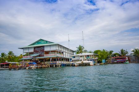 bocas del toro: BOCAS DEL TORO, PANAMA - APRIL 23, 2015 : Bocas del Toro is the capital of the province. This city is located on Isla Colon.