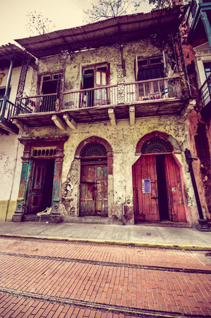 apartment tower old town: PAMANA, PANAMA - APRIL 19, 2015: Casco Viejo (Spanish for Old Quarter), also known as Casco Antiguo or San Felipe, is the historic district of Panama City