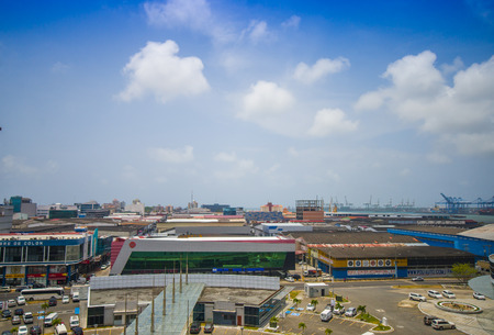 colon panama: COLON, PANAMA - APRIL 15, 2015: The Colon Free Trade Zone is the worlds second largest Duty Free Trade Zone.