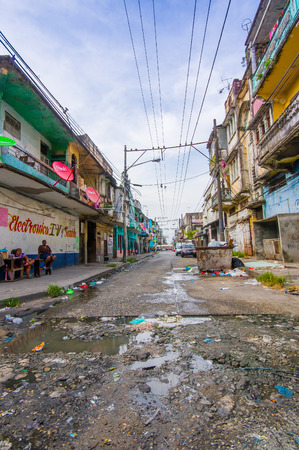 COLON, PANAMA - APRIL 15, 2015: Colon is a city in Central Panama. The town is in poor condition and notorious for its high crime rate.