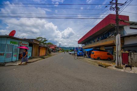 bocas del toro: ALMIRANTE, PANAMA - APRIL 23, 2015 : Almirante town in Panama, which serves as port for the caribean islands of Bocas del Toro