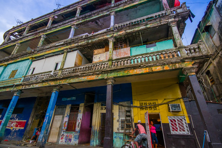 colon panama: COLON, PANAMA - APRIL 15, 2015: Colon centre has become a notorious crime hot spot, most government agencies have issued stern warnings about travel to the city