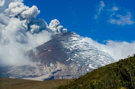 stratovolcano: Breathtaking scene of active Cotopaxi volcano erupting in Ecuador, South America