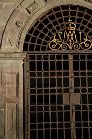 ecuadorian: Detail of door in San Francisco Church in Quito, Ecuador