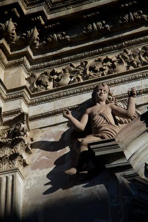 la compania: Church of the Society of Jesus, La Compania in Quito, Ecuador. Exterior facade detail