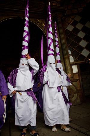 semana: QUITO, ECUADOR - APRIL 23, 2011: Good Friday procession in Quito, Ecuador