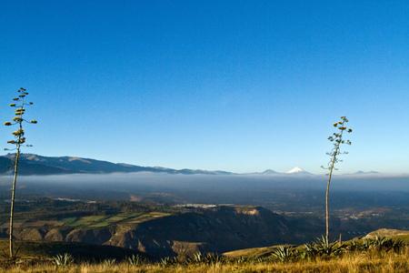 ecuadorian: Landscape of the Ecuadorian highlands with Cotopaxi in the background, South America