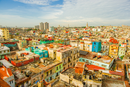 Panorama of Havana city Vedado District Standard-Bild