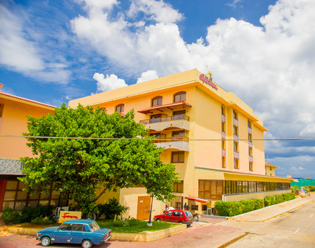 renowned: HAVANA, CUBA - AUGUST 30, 2015: Historic Hotel Copacabana, one of the most renowned and better positioned hotel facing the sea in Havana.